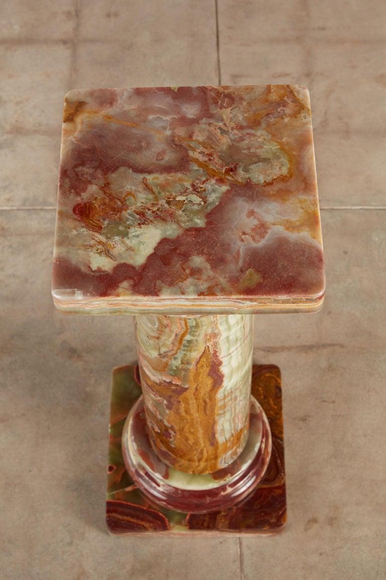 Roman Style Onyx Pedestal For Sale 1