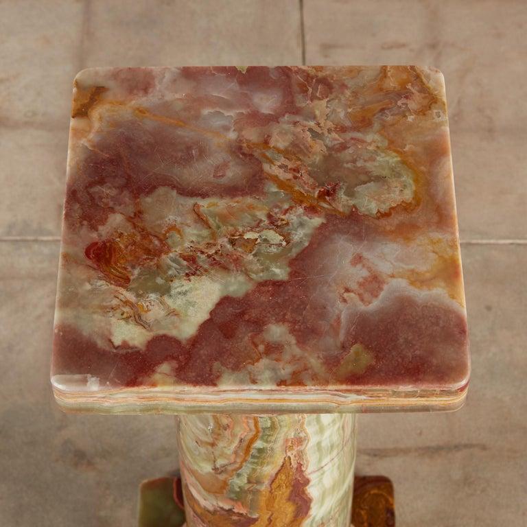 Roman Style Onyx Pedestal For Sale 2