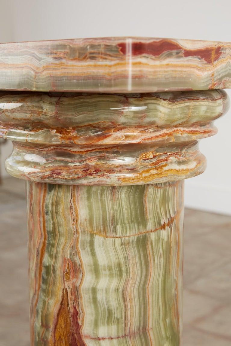 Roman Style Onyx Pedestal For Sale 3