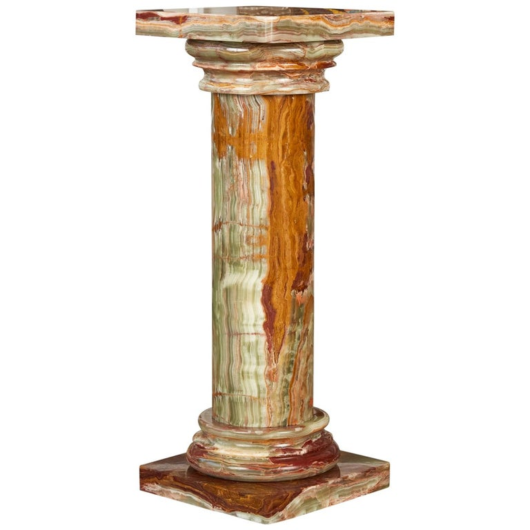 Roman Style Onyx Pedestal For Sale