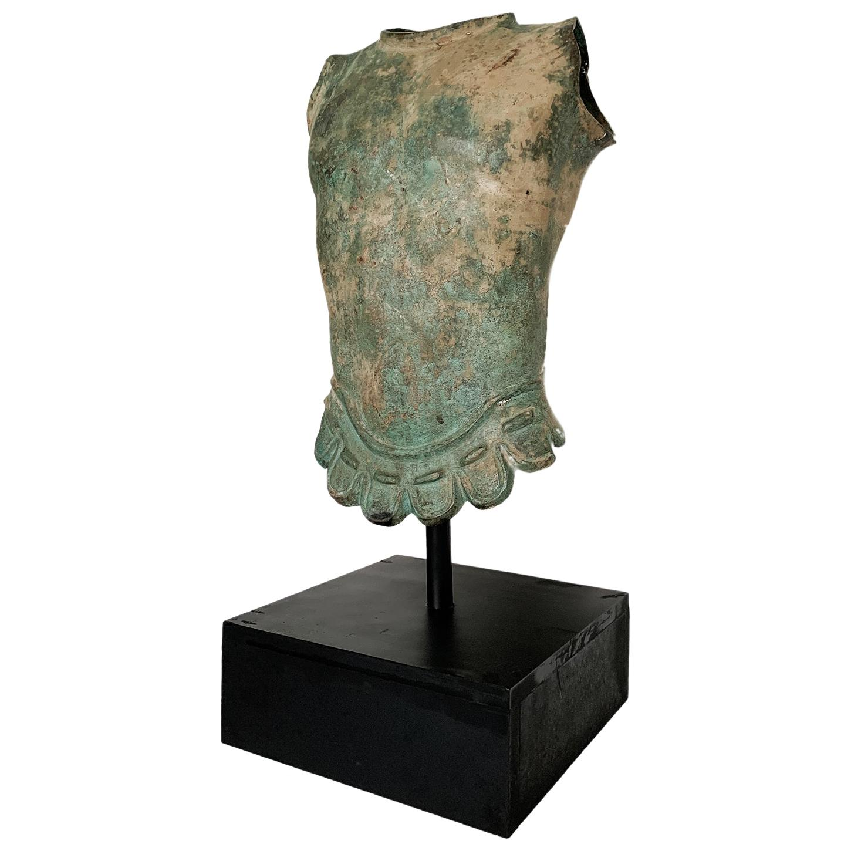 Roman Style Torso Sculpture in Metal