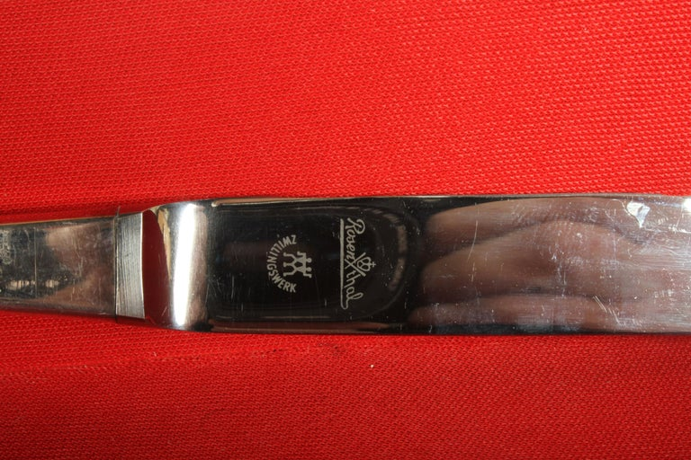 Romance, Bijorn Windblad Rosenthal Silverplate Flatware for 12 with Case 79 Pcs For Sale 9