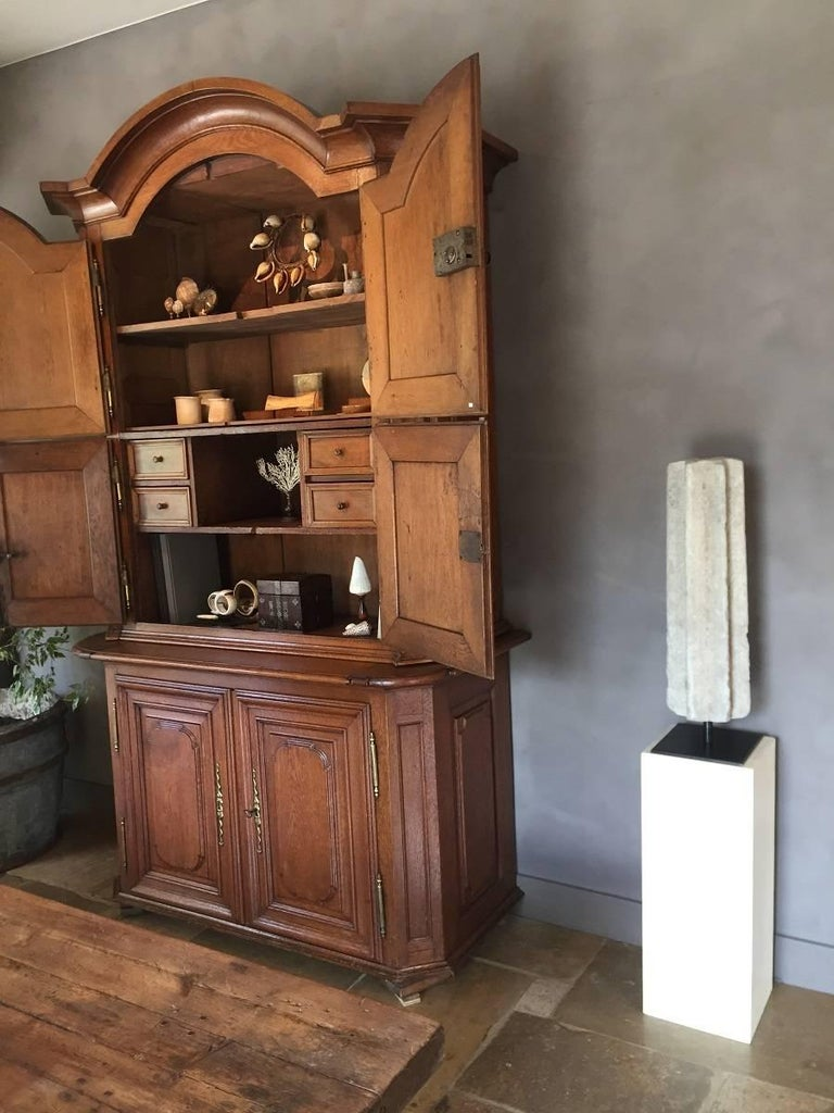 Hand-Carved Romanesque Column Stone Architectural Fragment For Sale