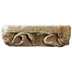 Romanesque Stone with Mythical Animals, 12th-13th Century, France