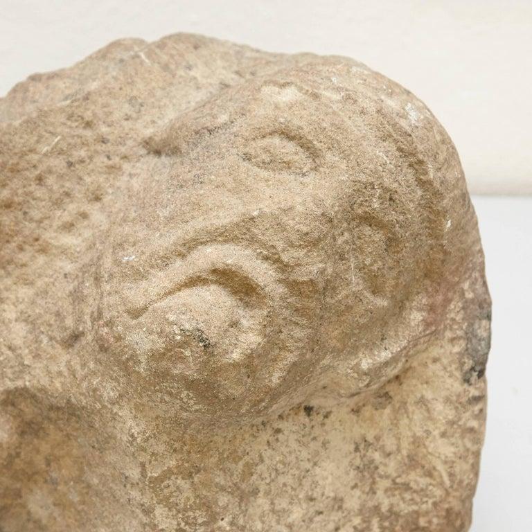 Romanic 13th Century Stone Sculpture For Sale 1