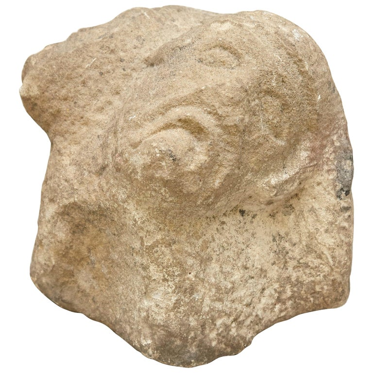 Romanic 13th Century Stone Sculpture For Sale
