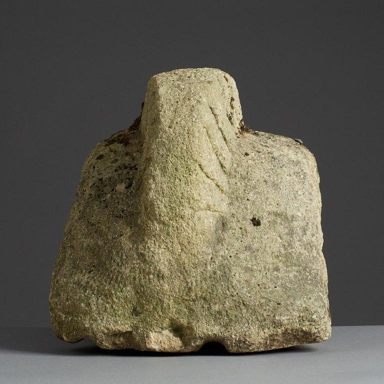 Romano Celtic Stone Head of a Legionnaire, Anglo Roman, circa 2nd-3rd Century In Good Condition For Sale In Matlock, Derbyshire