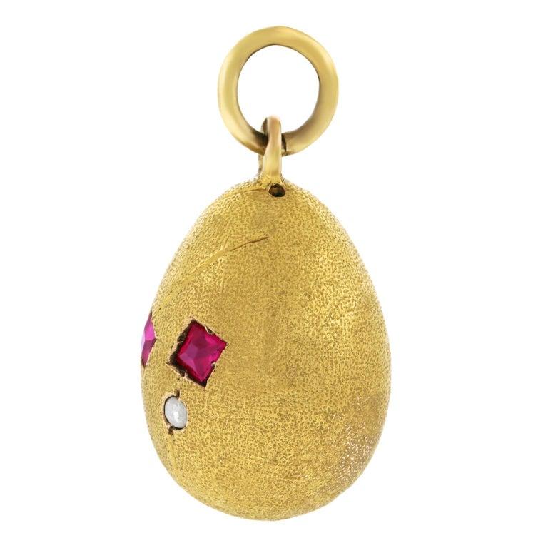 Romanov Era Russian Egg Pendant For Sale 4