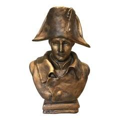 Romantic 19th Century Napoleon Bonaparte Bronze Patina Bust