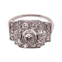 Romantic Antique Diamond Platinum Ring