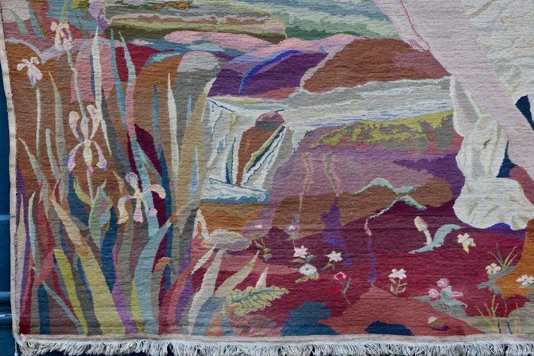 Romantische Kunst Nouveau Tapisserie oder Wandbehang, Liebespaar in einer Schaukel darstellt 6