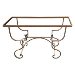 Romantic French Antique Iron and Brass Console Base