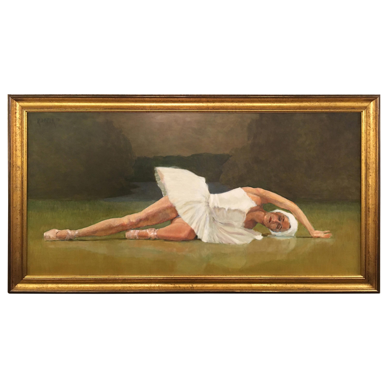 Romantic Original Ballerina Painting by Robert Beck