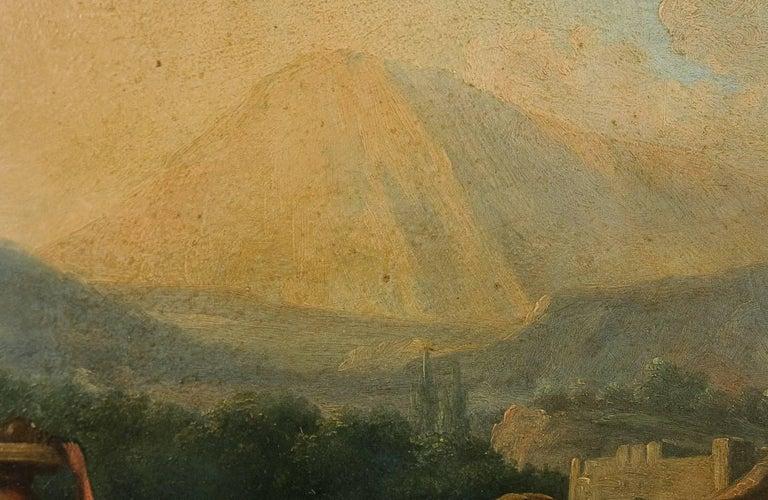 Romantic Period, Italian Landscape, Oil on Panel, circa 1830-1840 In Good Condition For Sale In Saint Ouen, FR