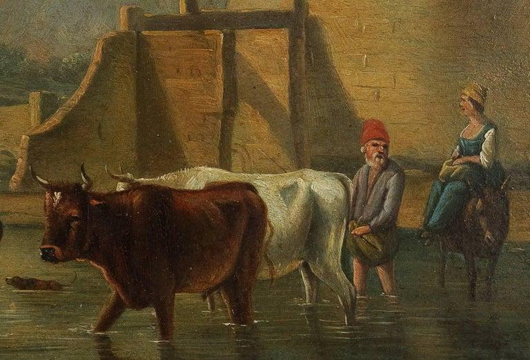 Romantic Period, Italian Landscape, Oil on Panel, circa 1830-1840 For Sale 1