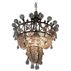 Romantic Rare Gem of an Antique Chandelier
