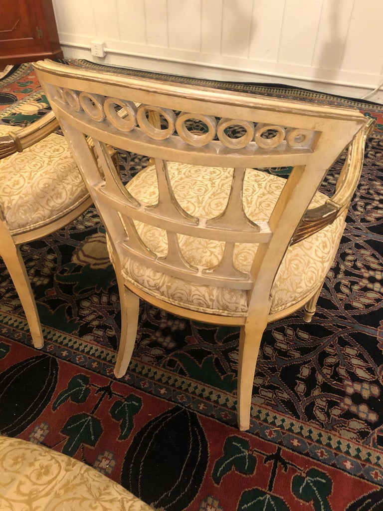 Romantic Set of 6 Italianate Style Dining Chairs For Sale 8