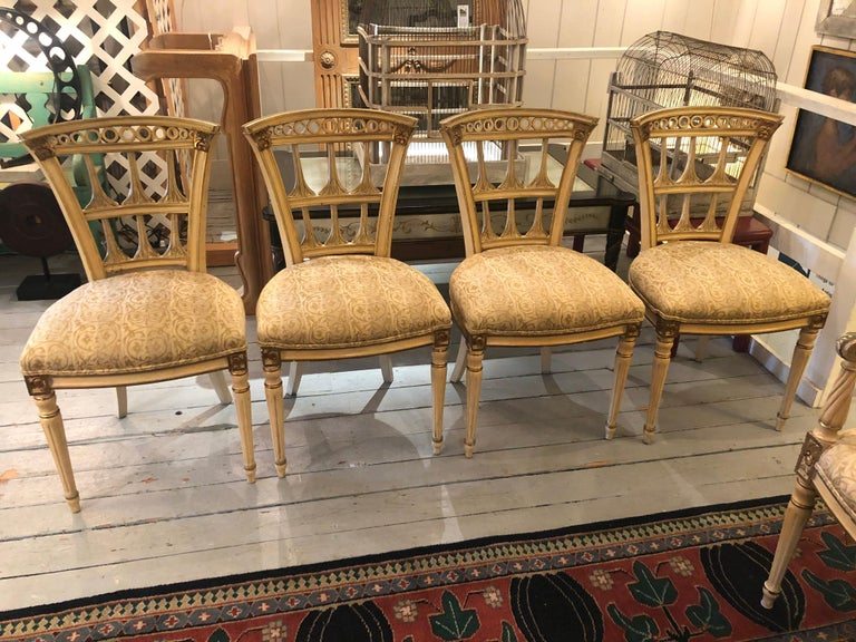 American Romantic Set of 6 Italianate Style Dining Chairs For Sale