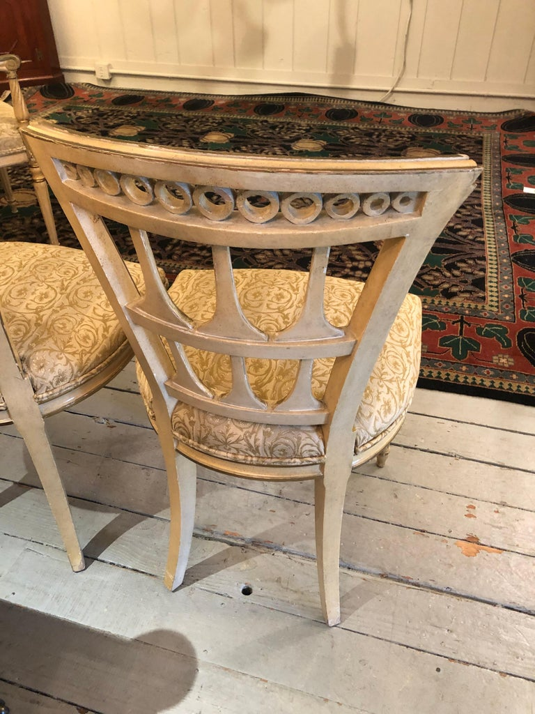 Romantic Set of 6 Italianate Style Dining Chairs For Sale 2
