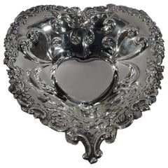Romantic Sterling Silver Valentine's Day Heart Dish by Gorham