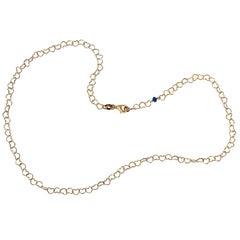 """Romantic Style 18 Karat Yellow Gold 0.51 Karat Sapphire """"Little Hearts"""" Necklace"""