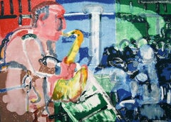 Bopping at the Birdland, Limited Edition Lithograph, Romare Bearden
