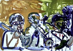 Brass Section (Jamming at Minton's), Limited Edition Lithograph, Romare Bearden