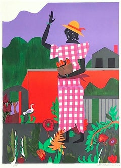 In The Garden, Signed Original Lithograph