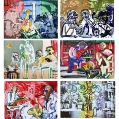 Jazz Series (Music), 6 Limited Edition Lithographs, Romare Bearden