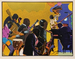 Out Chorus, Jazz Etching by Romare Bearden
