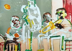 Tenor Sermon, Limited Edition Lithograph, Romare Bearden