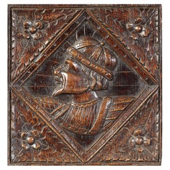 Romayne Male Portrait Oak Panel, English, circa 1540-1560