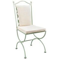 Rombo Outdoor Green Wrought Iron Chair