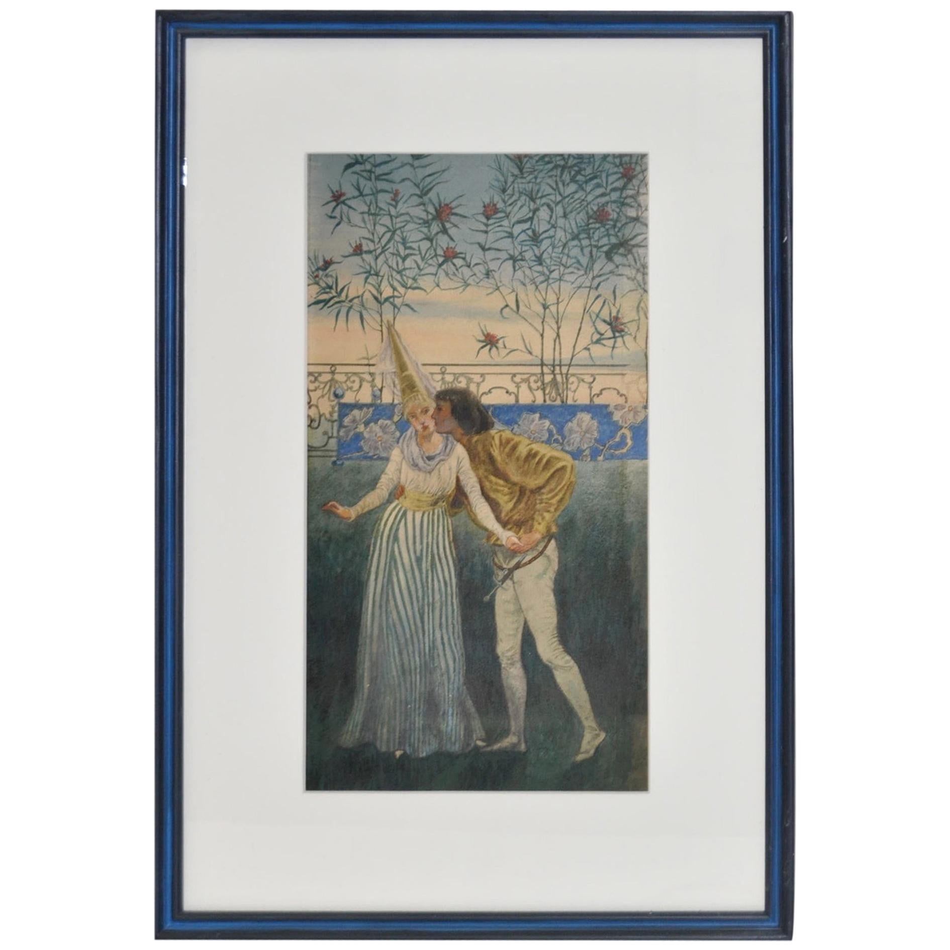 Romeo and Juliette Watercolor by Liam Watson, circa 1910