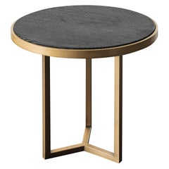 Romeo Black and Gold Side Table by Chiara Provasi