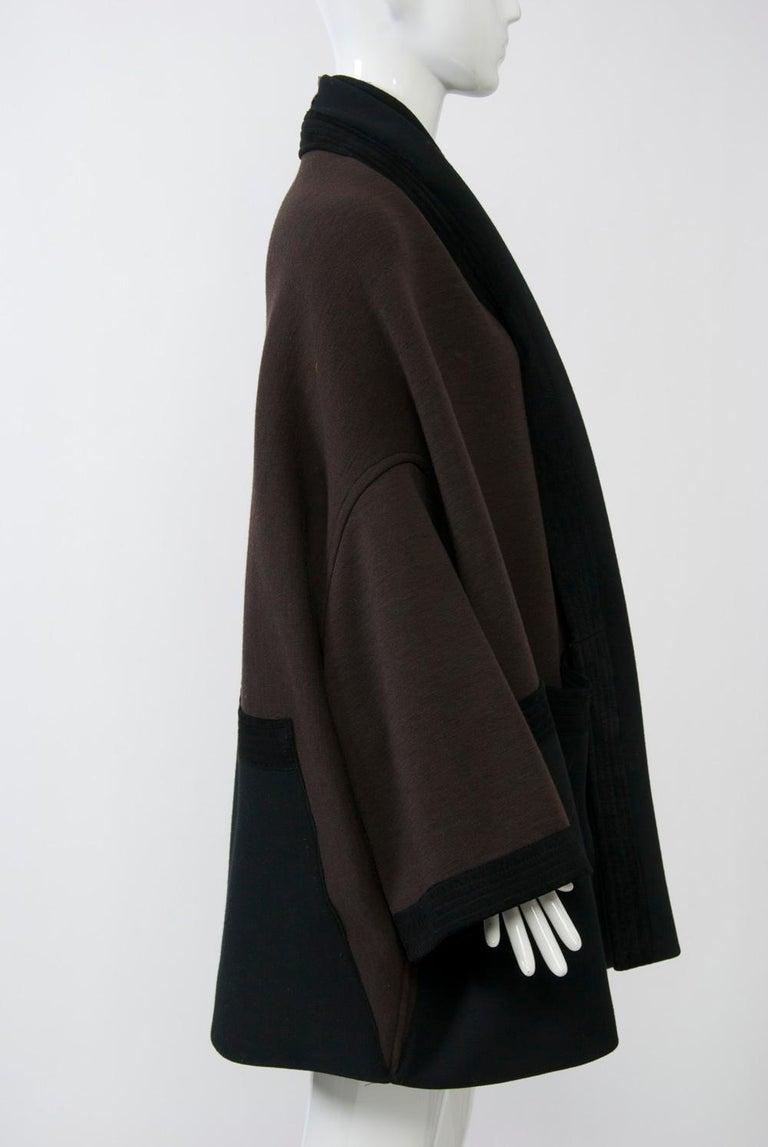 Romeo Gigli Brown/Black Kimono Jacket In Good Condition For Sale In Alford, MA