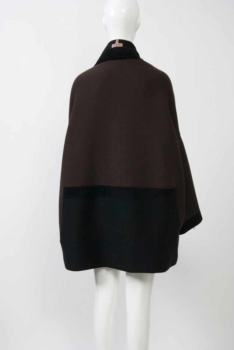 Women's Romeo Gigli Brown/Black Kimono Jacket For Sale