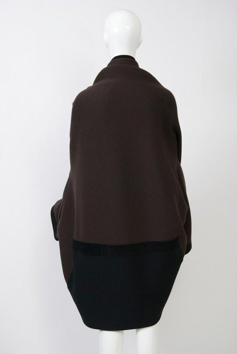 Romeo Gigli Brown/Black Kimono Jacket For Sale 2