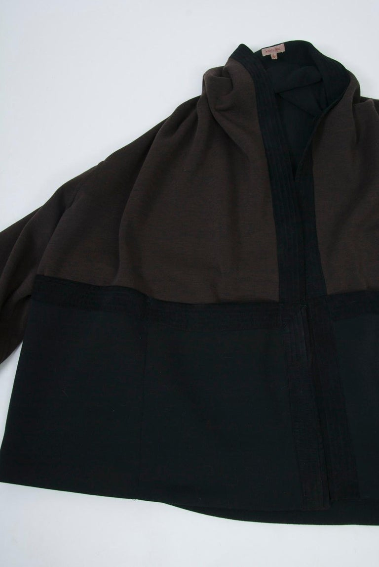 Romeo Gigli Brown/Black Kimono Jacket For Sale 3