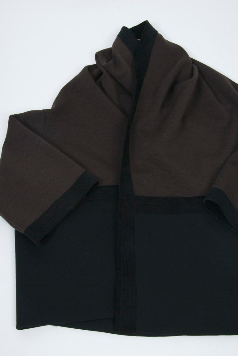 Romeo Gigli Brown/Black Kimono Jacket For Sale 4