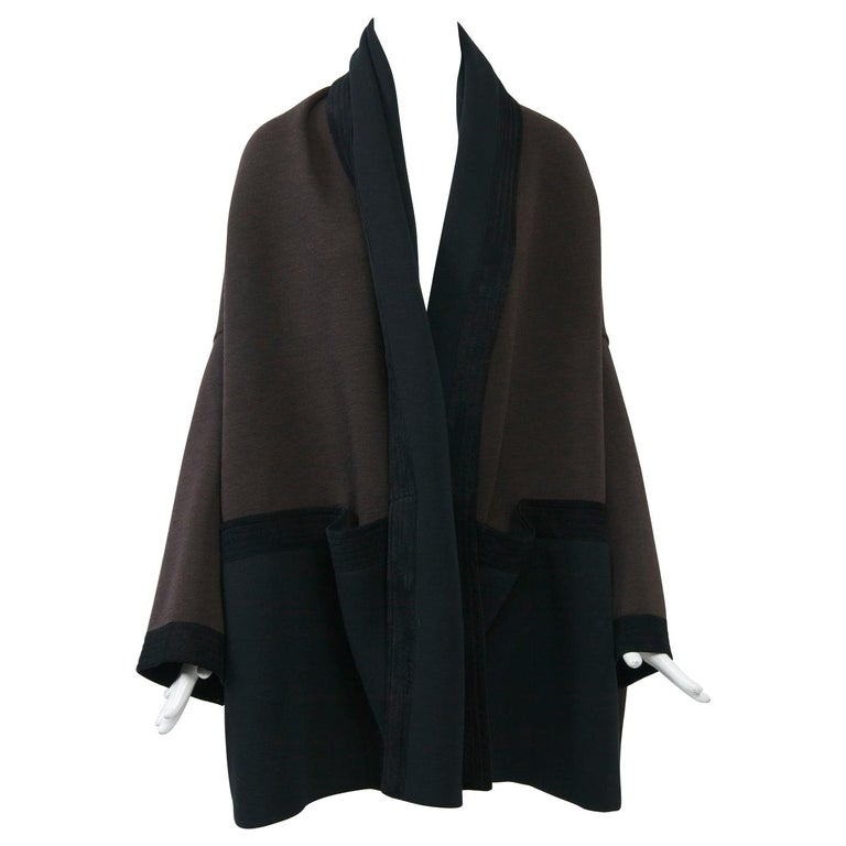 Romeo Gigli Brown/Black Kimono Jacket For Sale