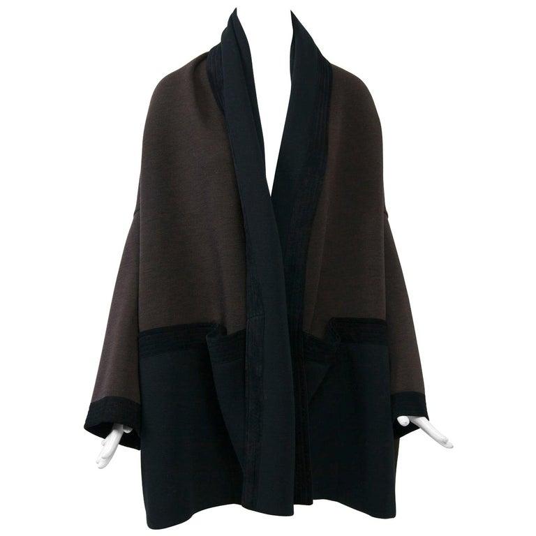 Romeo Gigli Brown/Black Kimono Jacket For Sale