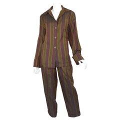 Romeo Gigli Green Sleepwear Pants Suit