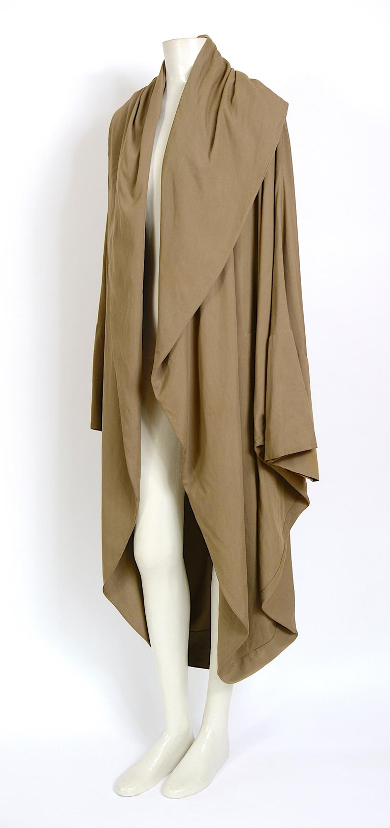 Brown Romeo Gigli vintage 1990s collectors cocoon coat For Sale