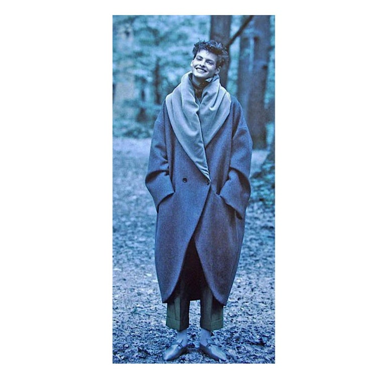 Romeo Gigli vintage 1990s collectors cocoon coat For Sale 4