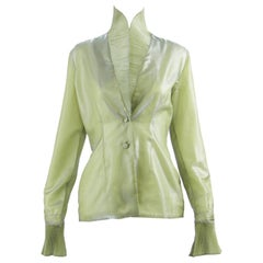 Romeo Gigli Vintage Pleated Organza Jacket