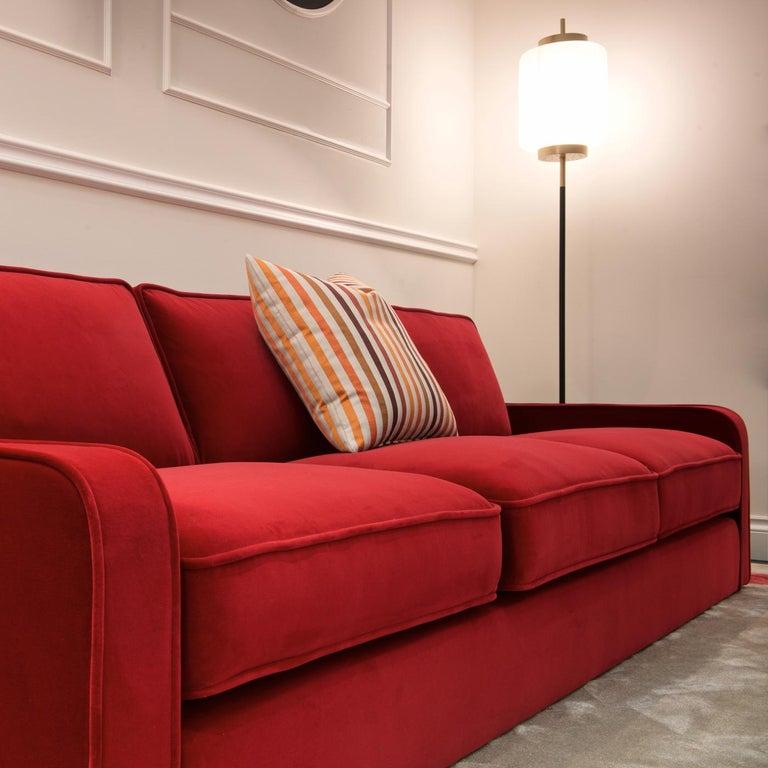 Modern Romeo Red Sofa by DOM Edizioni For Sale