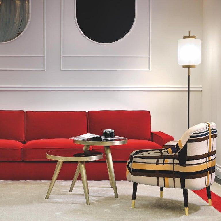 Italian Romeo Red Sofa by DOM Edizioni For Sale