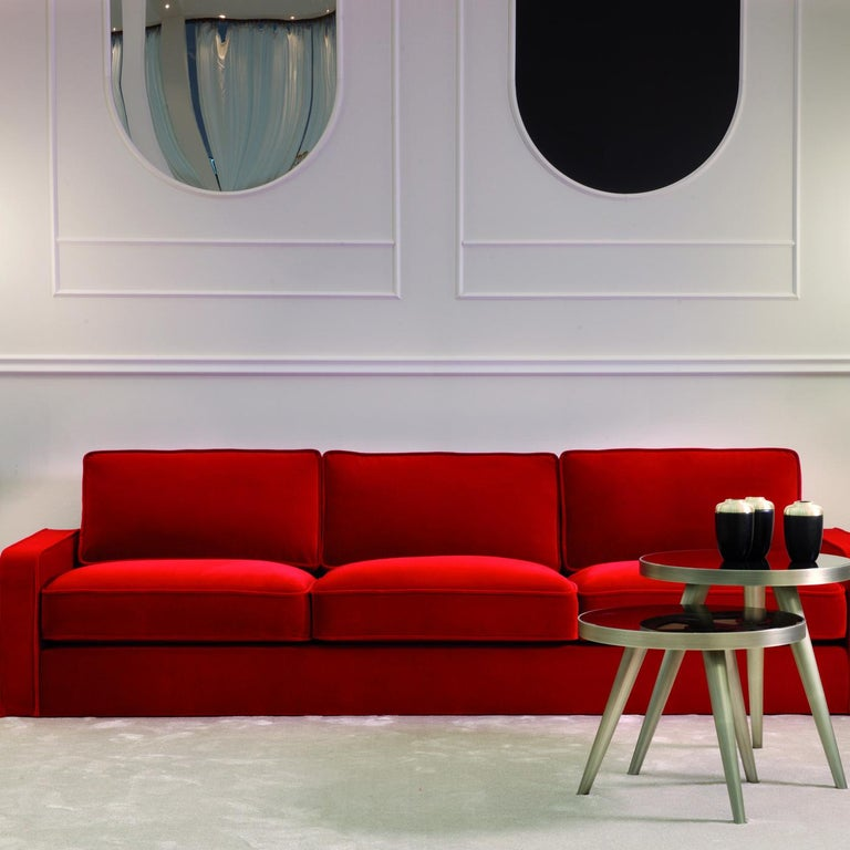 Romeo Red Sofa by DOM Edizioni In New Condition For Sale In Milan, IT