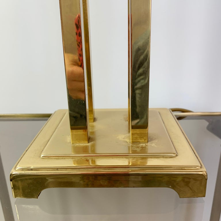Romeo Rega Attributed Brass Table Lamp, 1970s In Good Condition For Sale In Hastings, GB